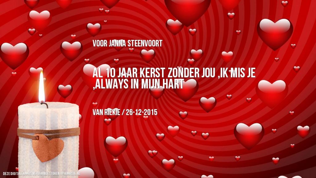 Een Kaarsje Voor Janna Steenvoort